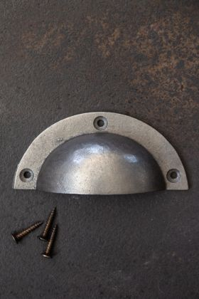 Antique Iron Cup Drawer Handle