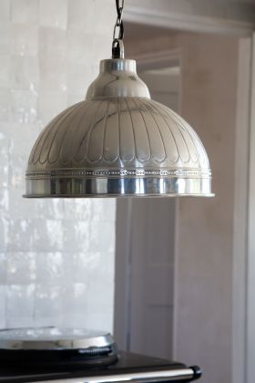 Image of the Antique Silver Ceiling Pendant Light