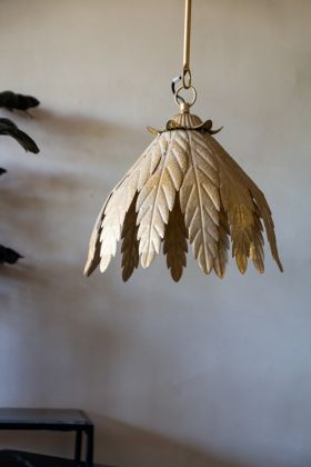 Image of the Antique-Style Leaf Pendant Light
