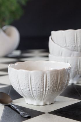 Image of the Antique White Ceramic Bowl