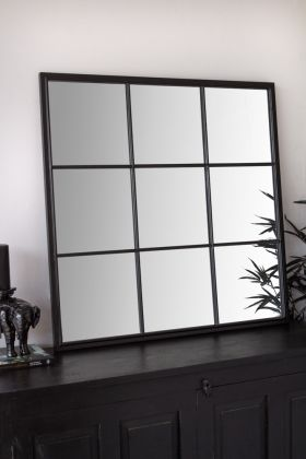 Image of the Square Window Pane Crittall-Style Mirror
