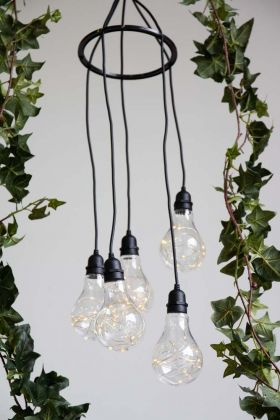Lifestyle image of the Battery Operated Festoon Cluster Lights
