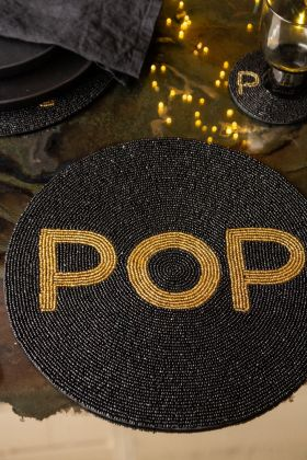 Image of the Pop Glamorous Round Beaded Placemat