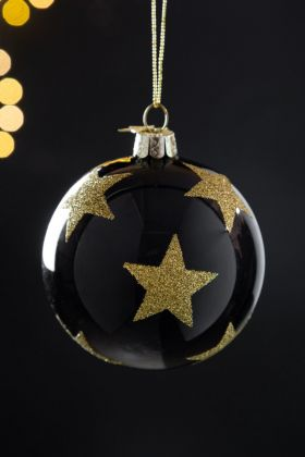 Image of the Big Gold Stars Bauble Christmas Tree Decoration