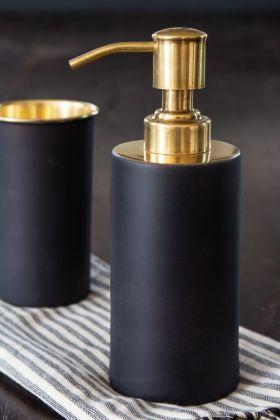 Image of the Black & Gold Soap Dispenser