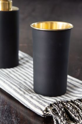 Image of the Black & Gold Tumbler / Toothbrush Pot
