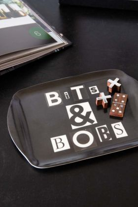 Lifestyle image of the Black Bits & Bobs Tray