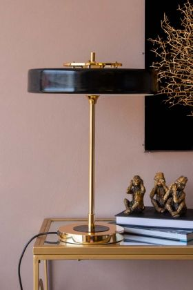 Lifestyle image of the Black & Gold Metro Table Lamp