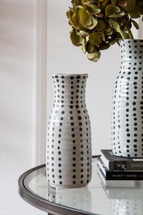 Lifestyle image of the Black Spotted Vase - Short
