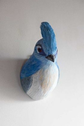 Front on image of the Blue Jay Bird Wall Mounted Decoration