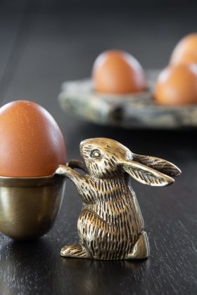 Brass Rabbit Egg Cup Holder