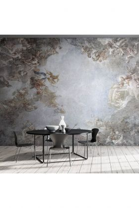 Image of the Ceiling Of The Chateau de Versailles Panoramic Wallpaper Mural
