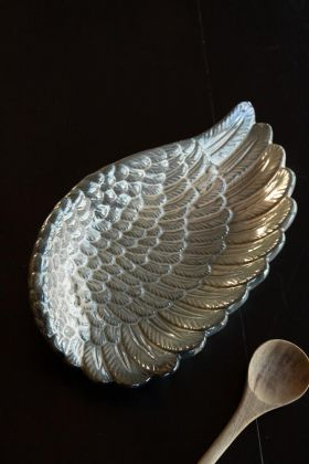 Lifestyle image of the Ceramic Angel Wing Decorative Dish
