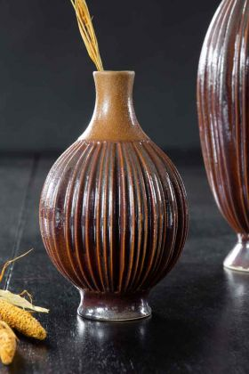 Image of the Ceramic Burnt Orange Glazed Vase