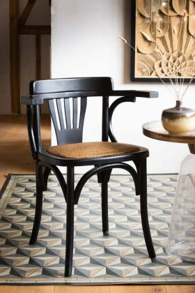 Lifestyle image of the Chez Casimir Black Bistro Dining Chair