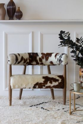 Image of the Cowhide Torres Bucket Armchair