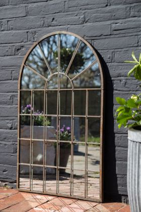 Image of the Crittall-Style Arch Indoor/Outdoor Mirror