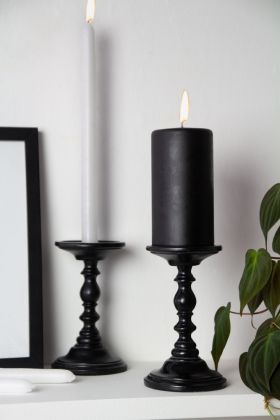Lifestyle image of the Dinner & Pillar Candle Stand