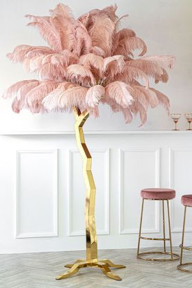 Lifestyle image of the Fabulously Fantastic Pink Ostrich Feather Tree