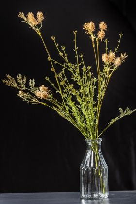 Image of the Faux Green Stem With Natural Thistle Flowers