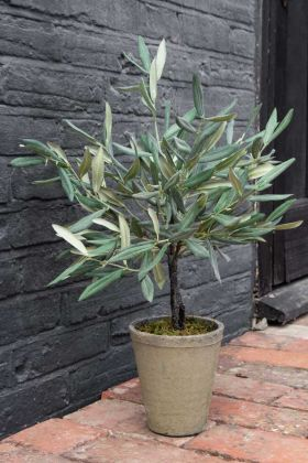 Faux Olive Tree In Ceramic Flower Pot