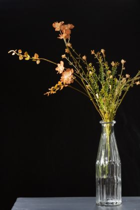 Image of the Faux Wild Green Stem With Peach Florals