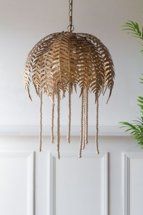 Image of the Fern Leaf Palm Tree Style Ceiling Pendant Light