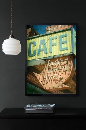 Lifestyle image of the Cafe Art Print