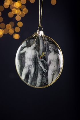 Image of the front of the Garden Of Eden Christmas Tree Decoration