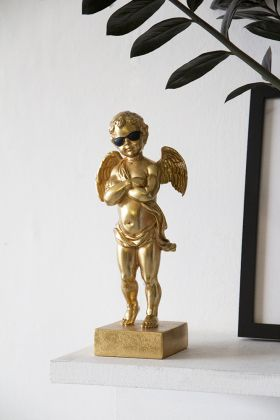 Image of the Gold Cherub With Sunglasses