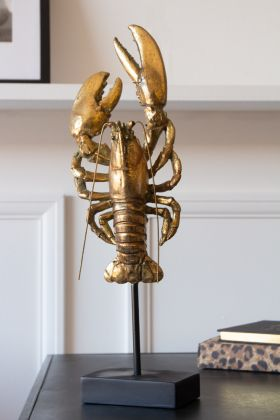 Gold Lobster Display Ornament