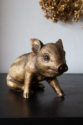 Lifestyle image of the Gold Piggy Bank