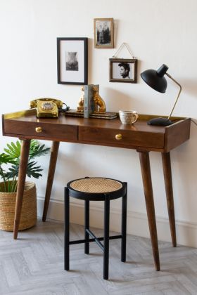 Angled lifestyle image of the Classic Gold Trimmed Desk
