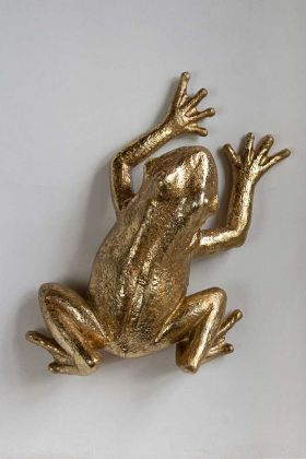 Image of the Golden Frog Wall Decoration hanging on the wall