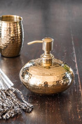 Image of the Hammered Gold Soap Dispenser