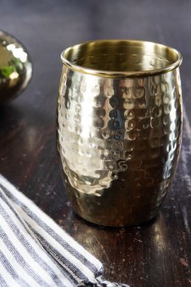 Image of the Hammered Gold Tumbler / Toothbrush Pot
