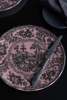 Lifestyle image of the Dusky Pink Sakura Cherry Blossom Dinner Plate