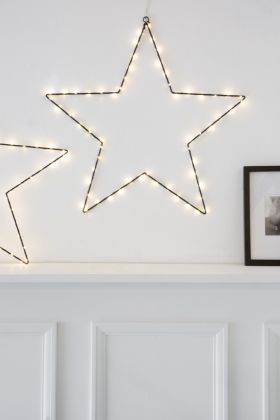 Lifestyle image of the Hanging Black Star Light