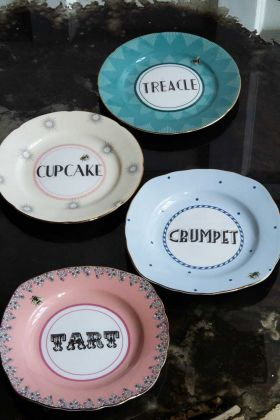 Image of the Set Of 4 Tart, Cupcake, Treacle & Crumpet Plates