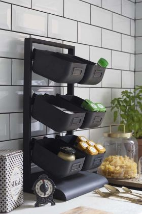 Lifestyle image of the Kitchen Storage Rack With 6 Removable Boxes