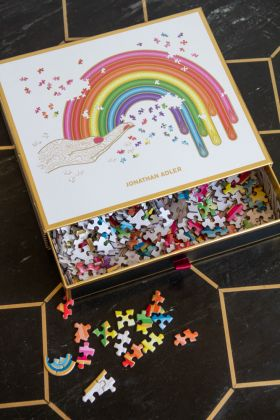 Image of the Jonathan Adler Rainbow Puzzle - 750 Pieces
