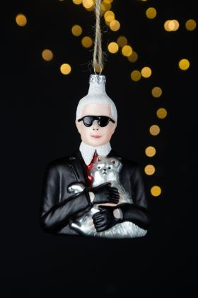 Lifestyle image of the Karl & Cat Christmas Tree Decoration