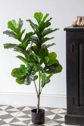 Lifestyle image of the Large Artificial Fiddle Leaf Fig Tree
