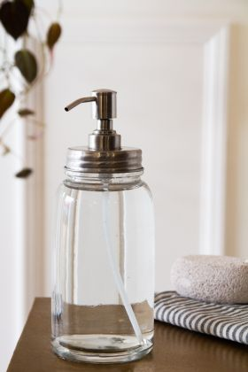 Image of the Large Glass Soap Dispenser