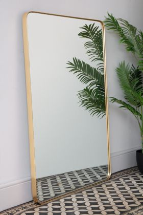 Image of the Large Rectangular Gold Framed Wall Mirror portrait