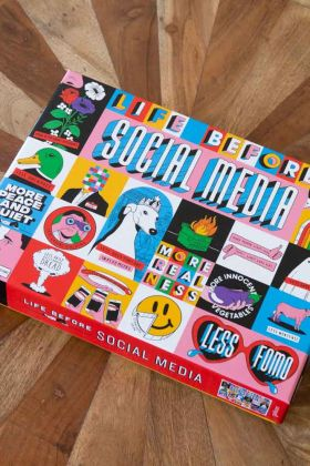 Image of the Life Before Social Media 1000 Piece Puzzle box
