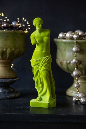 Lime Green Flocked Venus De Milo Display Figure