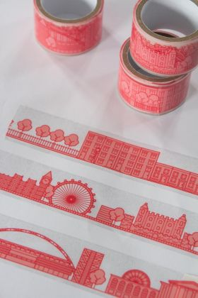Close-up image of the London Gift Wrap City Tape