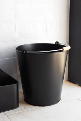 Matt Black Metal Bucket