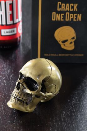 Matt Gold Skull Bottle Opener